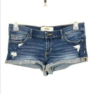 Hollister Distressed Cuffed Stretch Jean Shorts 29